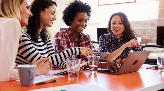 MLM Sales Representatives looking at company website